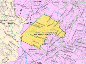 Map of West Caldwell New Jersey