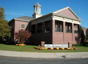 City Hall at the intersection of Springfield Avenue and Broad Street has the city's police station, municipal court, municipal departments, and other offices